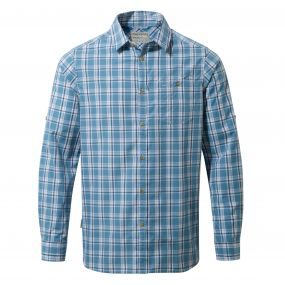 Brentwood Long-Sleeved Shirt Smoke Blue Combo