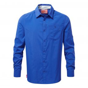 NosiLife Tatton Long-SleevedShirt Deep Blue