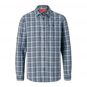 Insect Shield Barmera Shirt Ombre Blue Check
