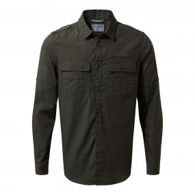 Adventure Trek Long-Sleeved Shirt Dark Khaki