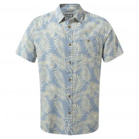 Palmer Short-Sleeved Shirt Fogle Blue