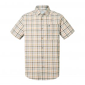 Holbrook Short-Sleeved Check Shirt Dark Moss