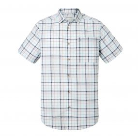 Holbrook Short-Sleeved Check Shirt Dark Grey