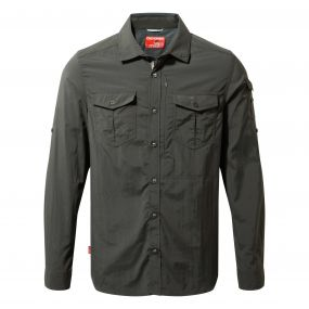 Insect Shield Adventure Long-Sleeved Shirt Black Pepper