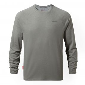 NosiLife Bayame Long-Sleeved Tee Soft Grey Marl