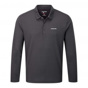 NosiLife Nemla Long Sleeved Polo Black Pepper