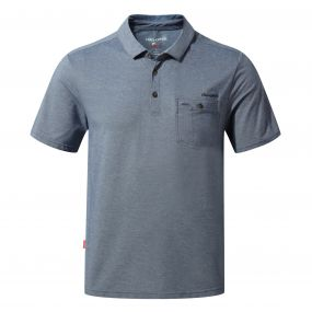 NosiLife Gilles Short-Sleeved Polo Night Blue Marl