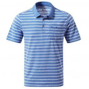 NosiLife Gilles Short Sleeved Polo Deep Blue Combo