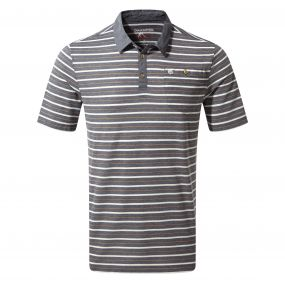 NosiLife Gilles Short-Sleeved Polo Ombre Blue Stripe