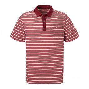NosiLife Gilles Short-Sleeved Polo Red Earth Stripe