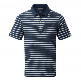 Fraser Short Sleeved Polo Night Blue Combo