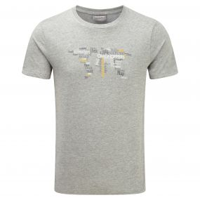 Graphic Tee Grey Marl