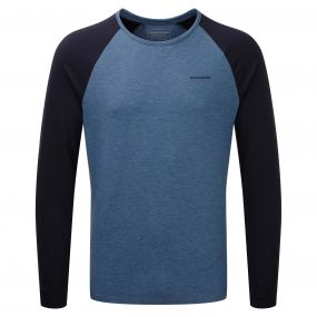 Maple Long-Sleeved T-Shirt Indigo Marl Navy