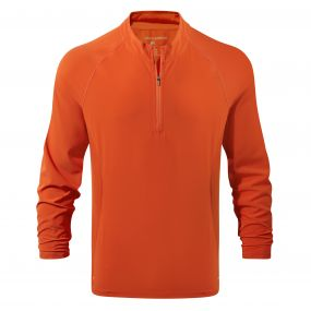 NosiLife Active Long-Sleeved Half-Zip Tee Spiced Orange