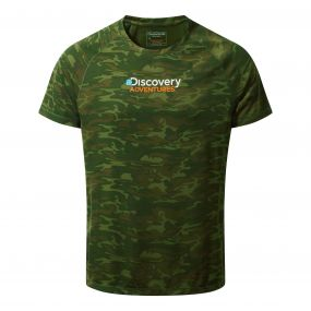Discovery Adventures Short-Sleeved Tee Dark Moss Combo