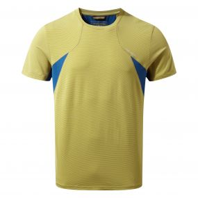 Fusion Short-Sleeved Tee Sulphur Yellow Combo