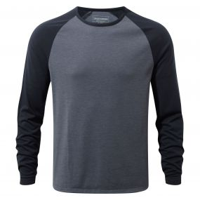 Loki Long-Sleeved T-Shirt Ombre Blue Marl