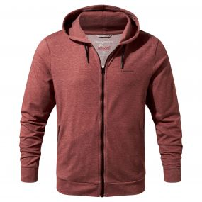 NosiLife Tilpa Hooded Jacket Red Earth Marl