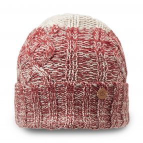 Unisex Dolan Knit Hat Dark Redwood Combo