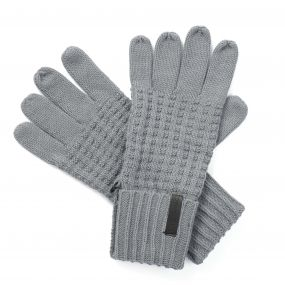 Unisex Brompton Waffle Knit Gloves Quarry Grey Marl