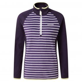 Tille Half Zip Dark Plum Stripe Dark Purple