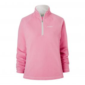 Seline Half-Zip Fleece English Rose