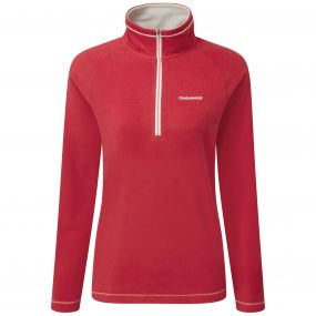 Seline Half Zip Fiesta Red