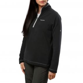 Seline Half-Zip Fleece Black