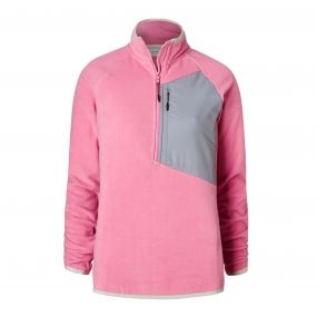 Caitlin Half-Zip Fleece English Rose
