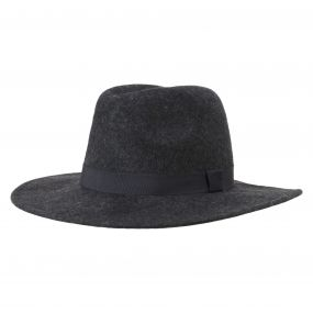 Agnes Fedora Hat Dark Grey Marl
