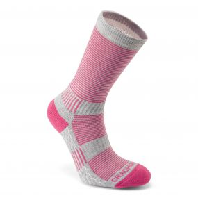 Heat Regulating Travel Sock Pink Dove Grey