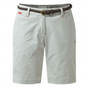 Insect Shield Fleurie Shorts  Dove Grey