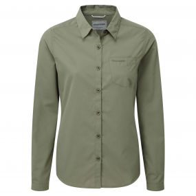 Kiwi Long-Sleeved Shirt Soft Moss