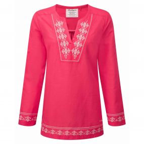 Clemence Long-Sleeved Top Watermelon