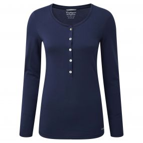 Gracefield Long Sleeved T-Shirt Night Blue