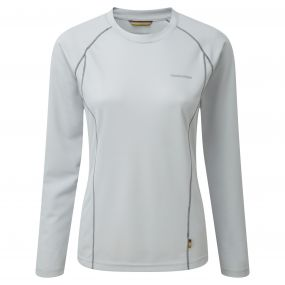 Vitalise Long-Sleeved Base T-Shirt Dove Grey