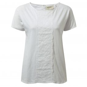 Connie Short-Sleeved Top Optic White