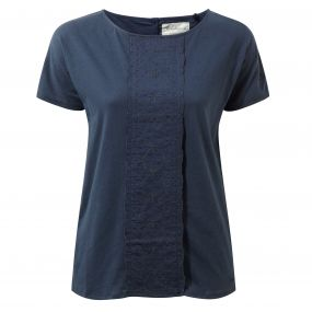 Connie Short-Sleeved Top Soft Navy