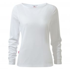 Insect Shield Erin Long-Sleeved Top Optic White