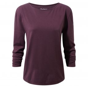Delamere Long-Sleeved Top Winterberry