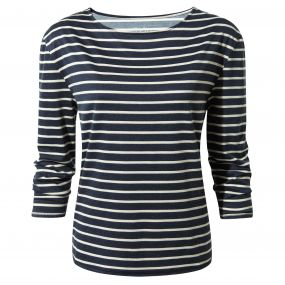 Delamere Long-Sleeved Top Soft Navy Combo