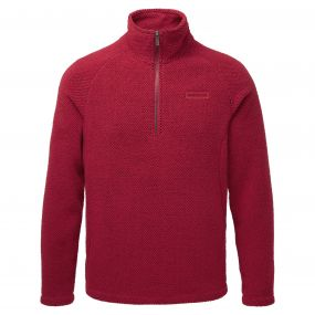 Sifton Half Zip Maple Red