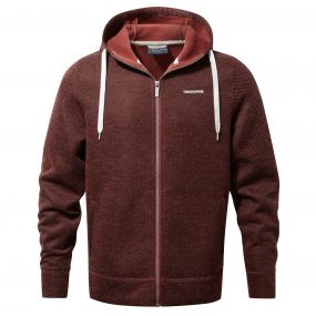 Mason Hooded Jacket Carmine Red