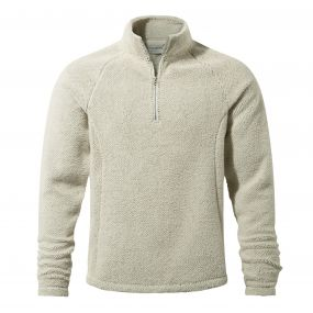 Barston Half-Zip Fleece Ecru