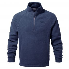 Barston Half Zip Night Blue