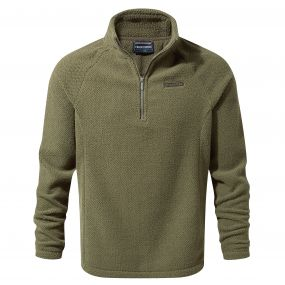 Barston Half-Zip Fleece Dark Moss