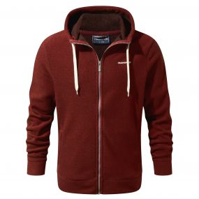 Sander Hooded Jacket Red Earth Marl