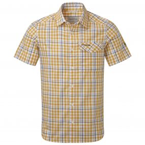 Lomand Short Sleeved Check Shirt Mustard Combo
