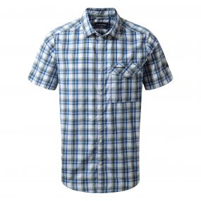 Walkton Short-Sleeved Shirt Night Blue Combo