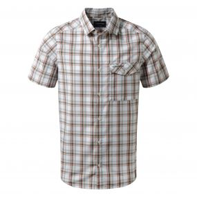 Walkton Short-Sleeved Shirt Dark Grey Combo
